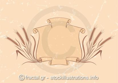 Banner with wheat beige