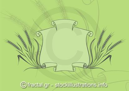 Banner with wheat green
