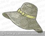 Hand drawn female summer hat