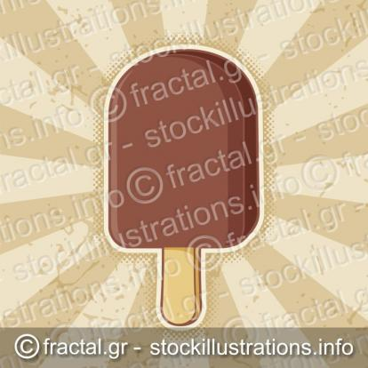 Chocolate ice cream stick