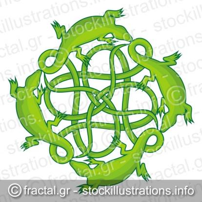 Lizards square knot