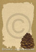 Paper with pinecone