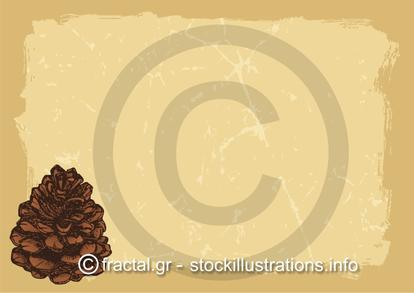 Paper with pinecone horizontal