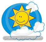 Sun with clouds